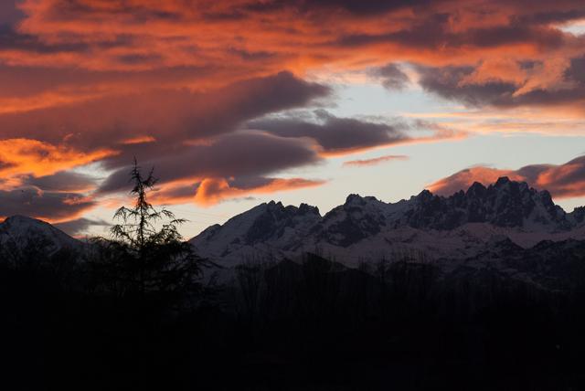 El cielo rojo por la mañana
